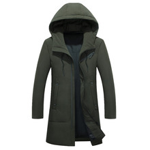 2017 Brand New Winter Coats Men Long Parkas Thick  Jacket Clothing Hooded Father down jacket waterproof Windproof grandfather