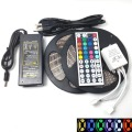 10M RGB LED Light Strip Kit waterproof 5050 Flexible LED Light Strip lamp    44 key remote infrared + 6A power adapter