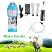 3L Double Head Electric Milking Machine Portable Milk Bucket Cattle Cow Sheep Coat Milker 0.8Gal 2 Teats Vacuum Pump Goat
