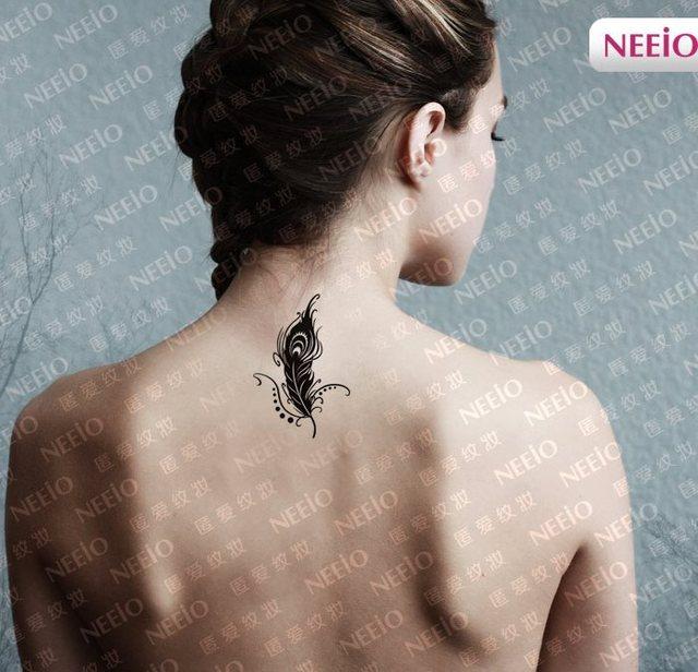 Peacock Feather Tattoo Sticker Waterproof Sexy Wrist Arm Lower
