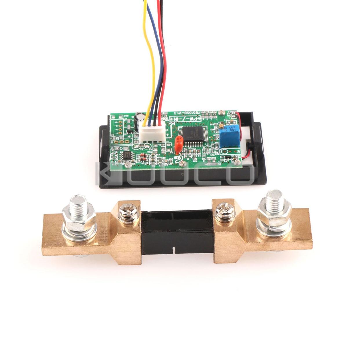 Dc Ammeter Shunt Wiring Diagram Trusted Aftermarket Amp Gauge Digital Tester Lcd Ac 0 200a Current Meter