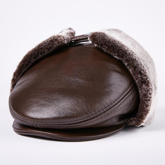 8da85c3b87786 Ancianos sombrero caliente del invierno de los hombres de invierno al aire  libre grueso caliente del