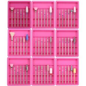 Image 2 - 6 uds. Cortadores de diamantes para manicura Set taladro de cerámica para uñas conjunto de brocas para uñas cortadores de máquina para pedicura herramientas de uñas