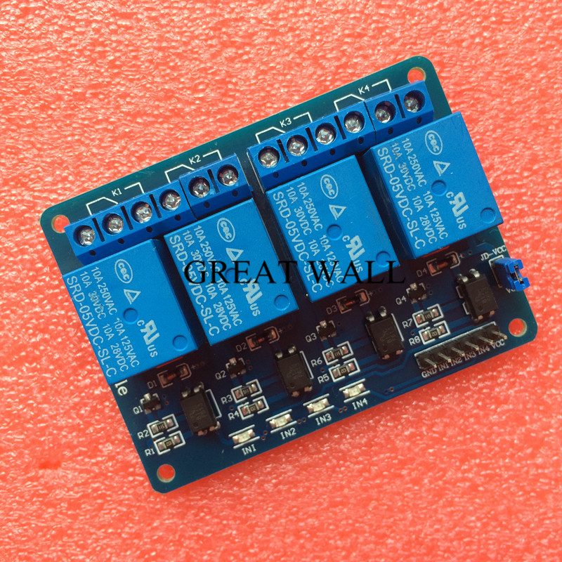 4 channel relay module 4-channel relay control board with optocoupler. Relay Output 4 way relay module for arduino