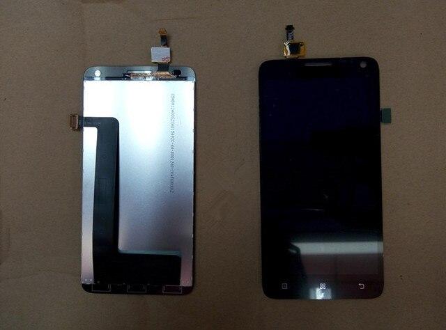 Para lenovo s580 lcd display + touch screen panel de cristal accesorios digitales para s580 smartphone negro libre del envío en la acción