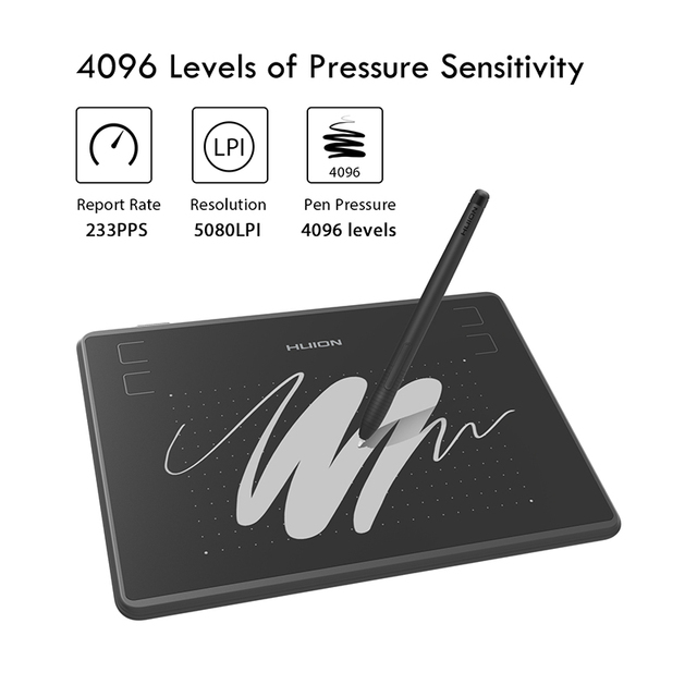 HUION H430P 4×3 Inch Ultralight Digital Pen Tablet Graphics Drawing Tablet with Battery-Free Stylus and Glove (Perfect for osu)