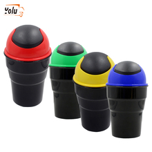 YOLU 4Color Car Trash Garbage Can Auto Dust Case Holder Bin box Car-styling Automobiles Organizer