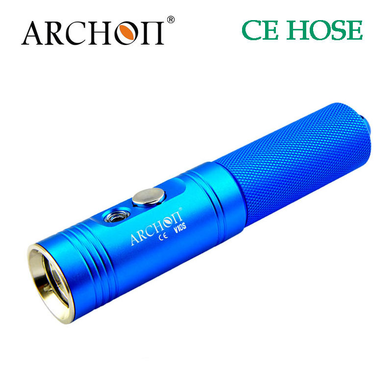 ФОТО 100% Original Archon V10S Diving 860 Lumen underwater Torch Light Scuba Diving Flashlight Waterproof with battery and charger