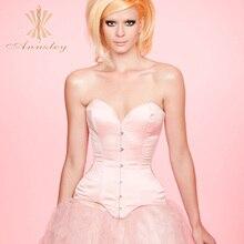 Annzley Custom Real Silk Strapless Pink Push Up Bra