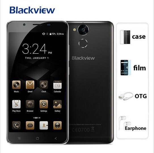 2017 New Blackview P2 Lite 6000Mah 3GB RAM 32GB ROM Mobile Phone Fingerprint ID MTK6753 Octa