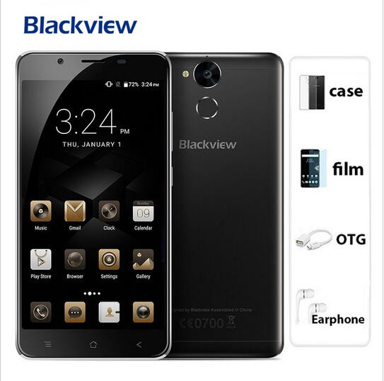 bilder für 2017 neue blackview p2 lite 6000 mah 3 gb ram 32 gb rom mobilen telefon Fingerprint ID MTK6753 Octa-core 5,5 Zoll FHD 13MP Zelle telefon
