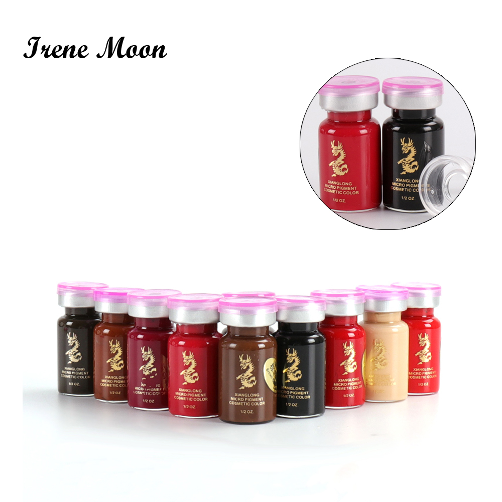 10ml Microblading Pigment Permanent Makeup Microblading Eyebrow Tattoo Ink Professional Embroidery Brows Tattoo Encre Emulsions