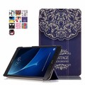 For Samsung Galaxy Tab A 10.1 T580 T585 printed art style Ultra Thin Wallet Magnetic Leather Case 3 Folding Flip Cover Shell