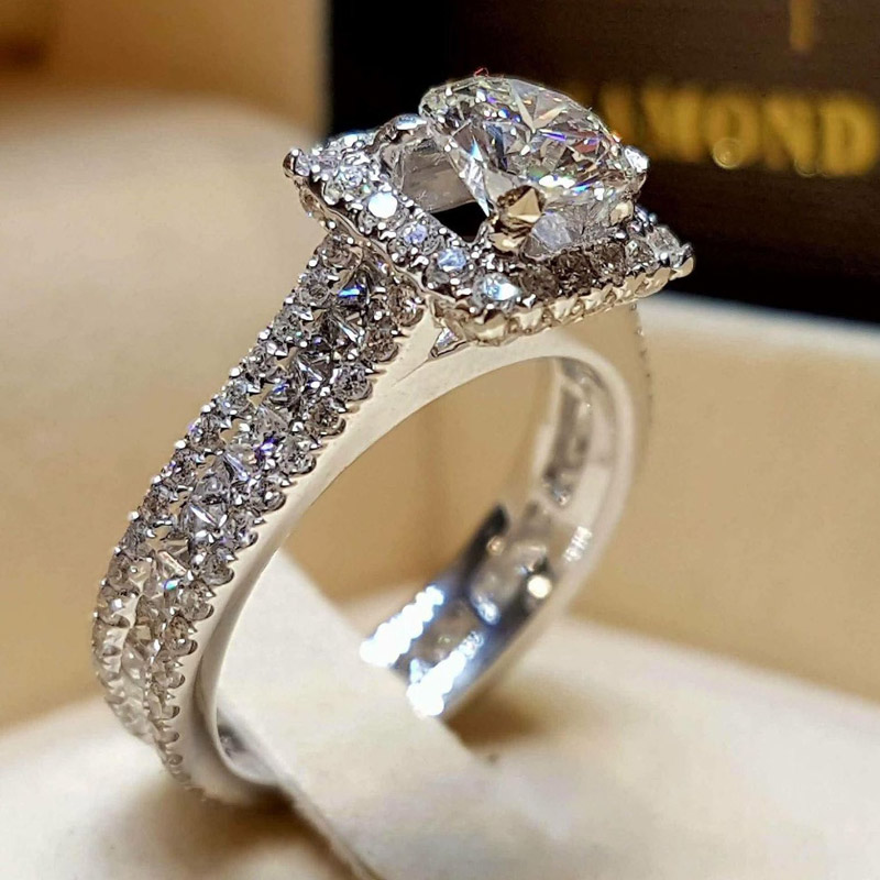 ZORCVENS Hot Sale Fashion Luxury Women Engagement Jewelry Silver Color 5A CZ Crystal Zircon