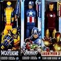 30 cm narve Super Heros Thor Homem De Ferro Homem Aranha Capitão América Wolverine PVC Modelo de Brinquedo Figura de Ação Com caixa