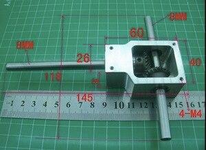 1 Juego de relación de 90 grados 1:1 -- eje D: 8MM ángulo de marcha atrás espiral bisel caja de engranajes pequeña reducción