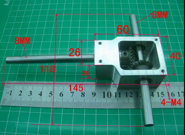 1Set  90Degree Ratio 1:1 --Shaft D: 8MM Reversing Angle Spiral Bevel Gear Box Small Reduction
