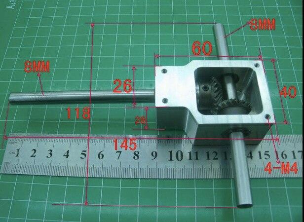 Conjunto 1 90 Grau 1:1... Eixo D: 8 MM Reverter Ângulo Espiral Da Engrenagem Cónica Pequena Caixa de Redução