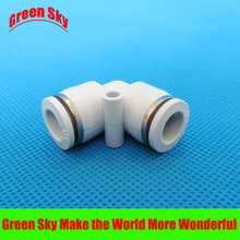 6 pcs/lot 10mm to OD tube L shaped push in elbow pneumatic fitting