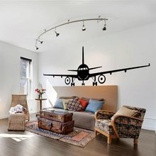 Airplane Wall Decal Jumbo Jet Vinyl Sticker Home Living Room Decor Large Wallpaper Removable Murals AY1649