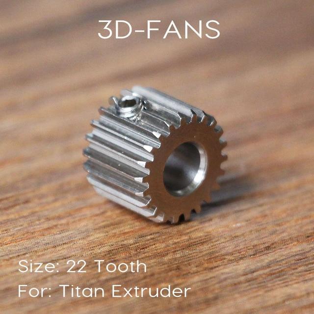 1 Pcs Titan Extrusora E3D 22 Dentes Da Engrenagem Modulus Engrenagem de Aço Inoxidável 0.5 para 3D de impressora