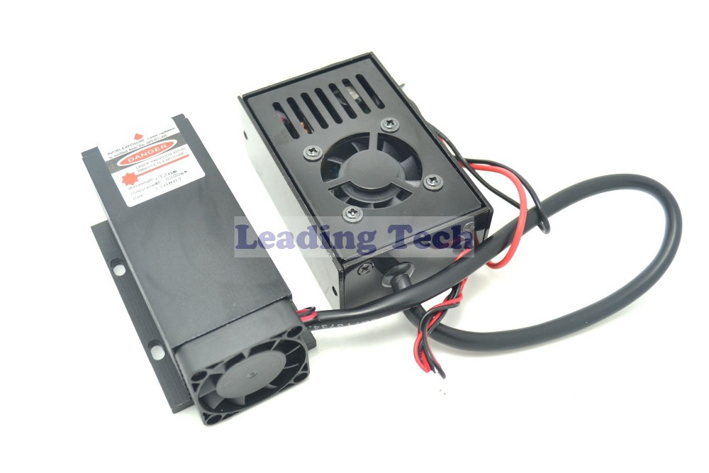 532nm 200mw DPSS Laser Module with TTL + Fan Cooling+ Power Supply 110-220V