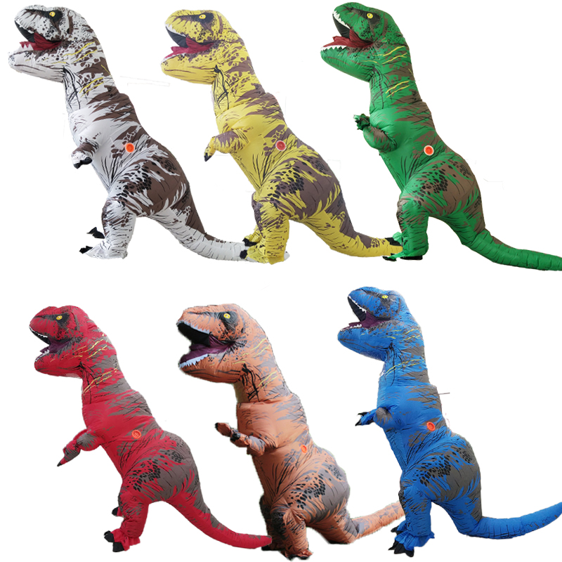 Dinosauro gonfiabile Costume Fantasia Adulto Halloween Costumi di dinosauro Cosplay per adulti Disfraces Adultos T-REX Fan Operated
