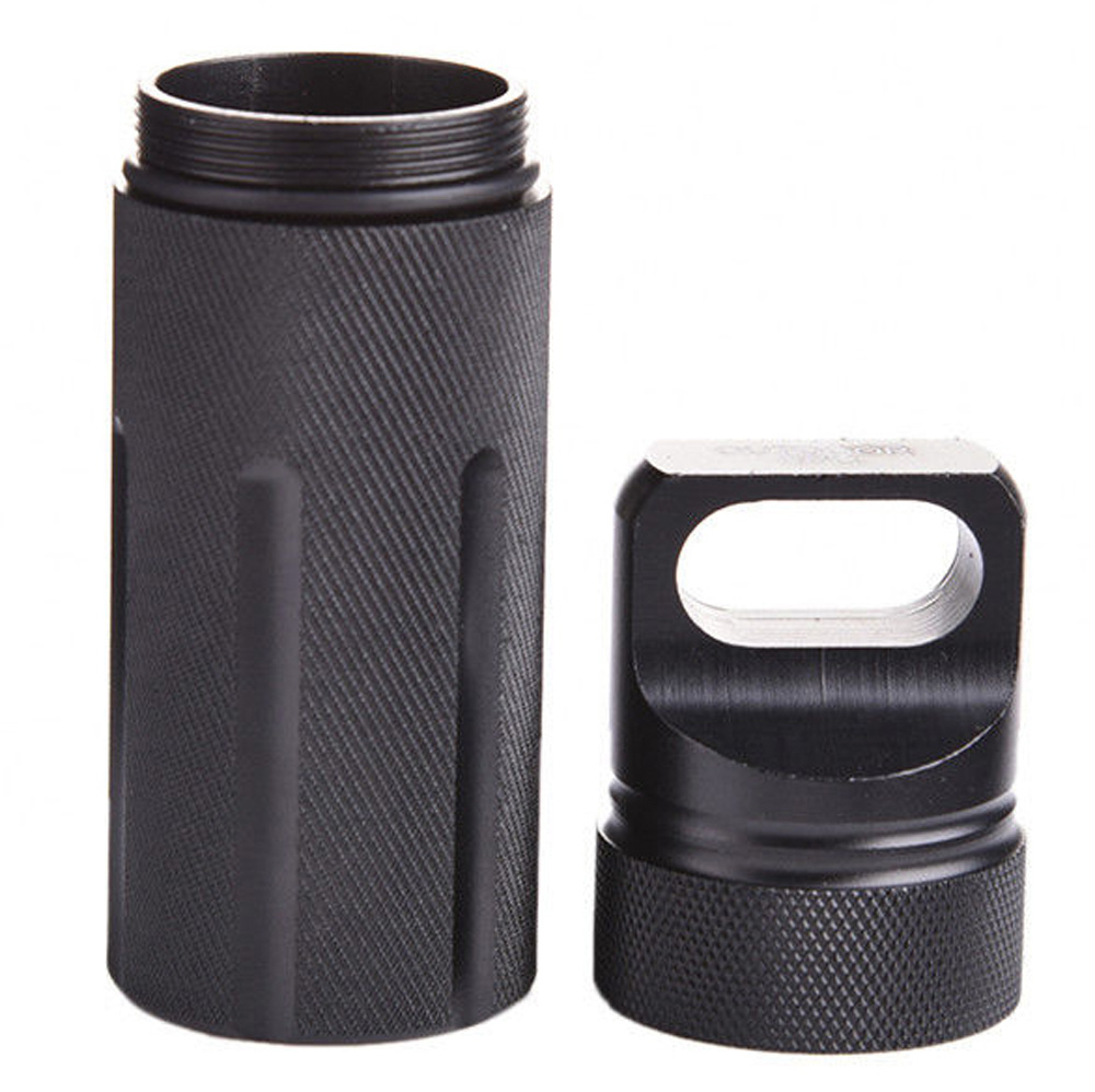 Outdoor Survival Waterproof Tank Medicine Pill Bottle Container Holder Mini EDC Box Camping Tools For Storage freeshipping titanium capsule grappling hook container waterproof storage box edc outdoor capsule tablet cash pill survival box