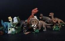 6PCS/set Plastic Animal Figure Sickle dragon Triceratops Oklahoma Tyrannosaurus rex Kids Dinosaur Toys Set Gift For Kids