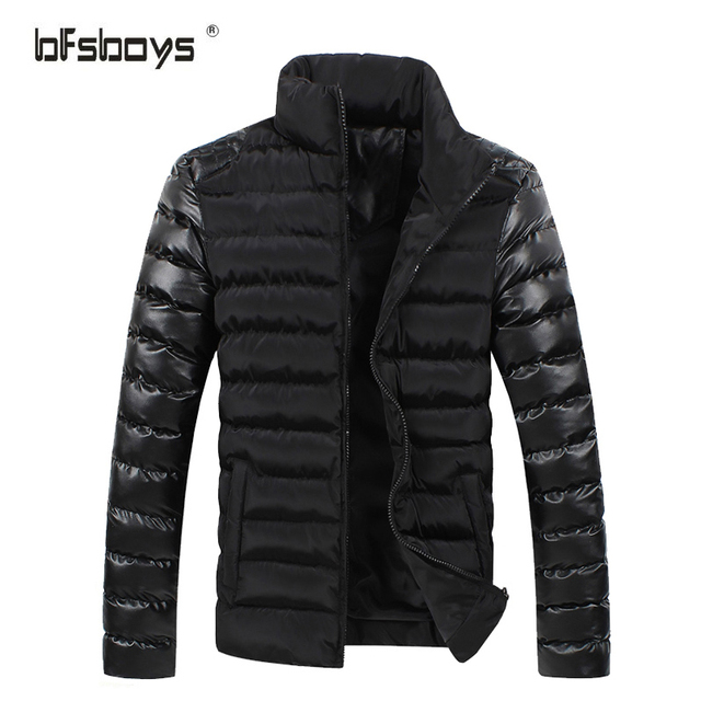 2016 Men Winter Jacket Warm zipper  Cultivate one's morality Men Popular Coat For Male Black & blue Color  A411-M02-P45