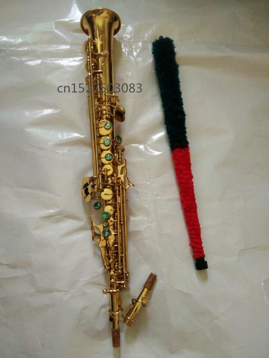 Saxophone électrophorèse d'or Soprano Saxophone haut chaud instruments de musique Sax soprano diplôme professionnel fret gratuit