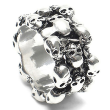 1Pc Men's Gothic Skull Finger Charm Stainless Steel Punk Biker Knuckle Ring