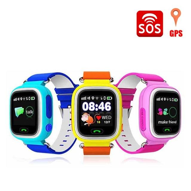 Posicionamento gps relógio q90 touch screen wi-fi smart watch crianças Chamada SOS Localizador Dispositivo Anti Perdido Lembrete PK Q80 Q100