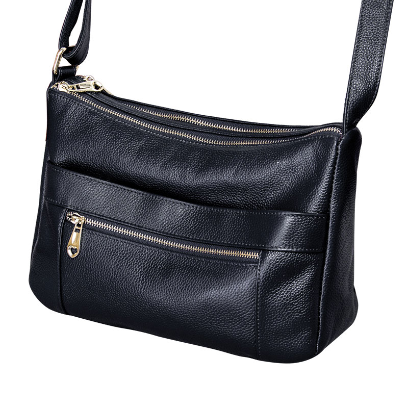 Europe and America style women's handbag ladies genuine leather shoulder crossbody bags for women casual messenger bag women bag new 2017 fashion brand genuine leather women handbag europe and america oil wax leather shoulder bag casual women