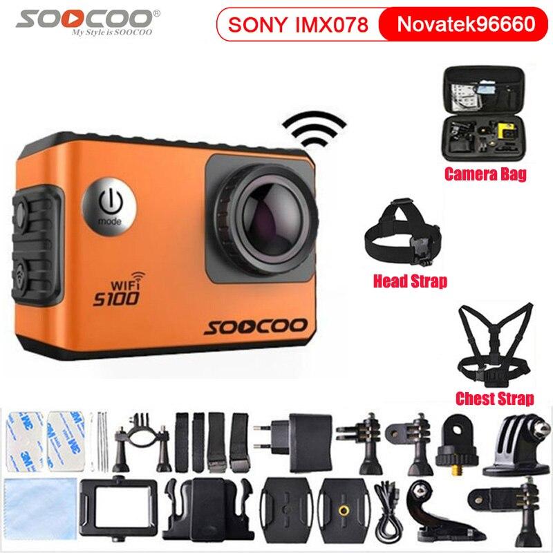 SOOCOO S100 Action Camera Ultra HD 4K NTK96660 IMX078 WiFi Gryo Image Stabilization Voice control Sport Camera