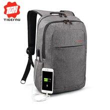2017 Tigernu Mochila Hombres del Bolso Marca Cargo USB Externo portátil de 14.1 Pulgadas Portátil Mochila Mujeres mochila Impermeable Mochila