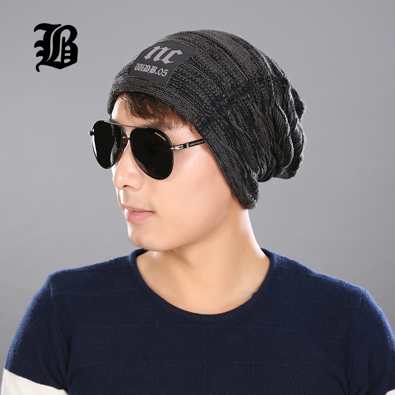 [FLB] Male Cap Men Beanie Caps Boys Winter Hats For Man Knitted Beanies Hat Stripes Gorra Color Bonnet Bone Caps Man'S And Women