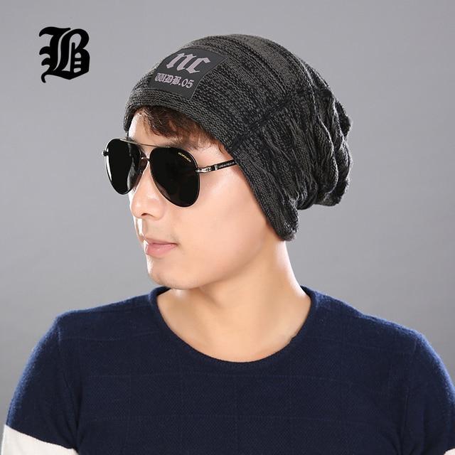 f49180f81bb  FLB  Male Cap Men Beanie Caps Boys Winter Hats For Man Knitted Beanies Hat