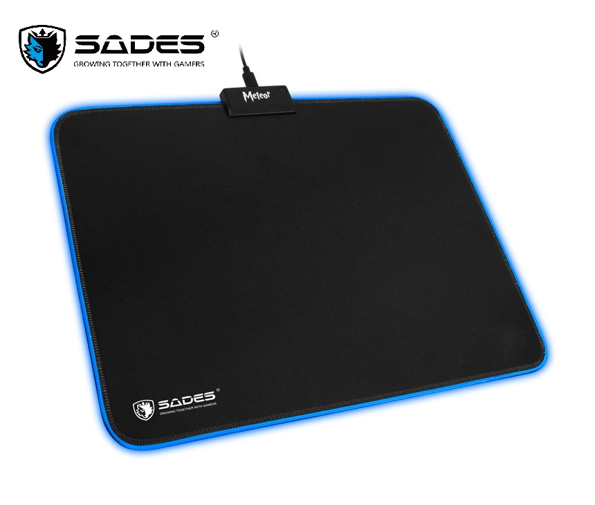 все цены на SADES RGB Gaming Mouse Pad Meteor 8 Models RGB Lighting Rubber Mice Mousepad Ultra Anti-Slip