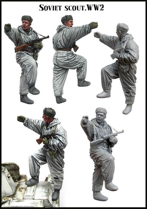 1/35 шкала unpainted смола фигура советская коллекция скаутов фигурка