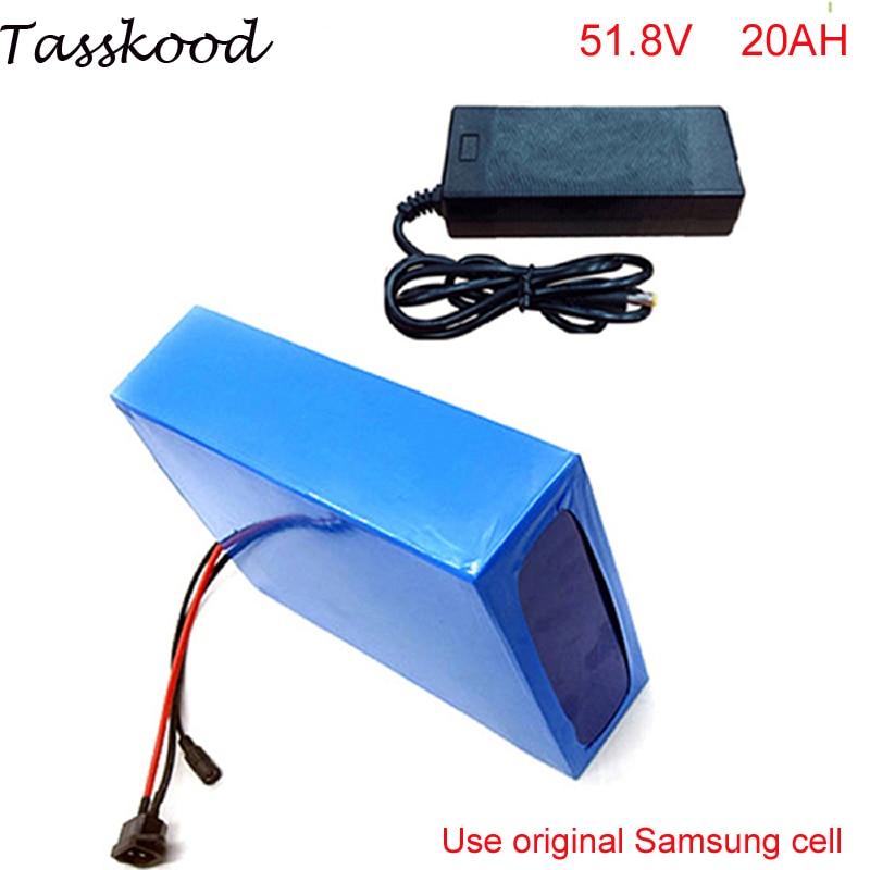 цена на 52V 20Ah down tube ebike battery 51.8V 20Ah electric bike battery for 48V bafang 1000W BBSHD/BBS03 moto For Samsung cell