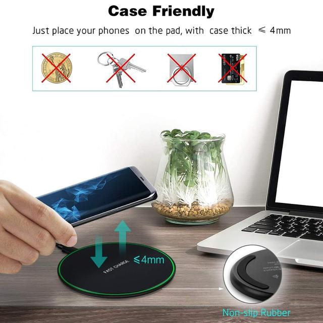 NTONPOWER Wireless Charger Qi Smart Quick Charge Fast Charger 7 5W for Mi MIX 2S