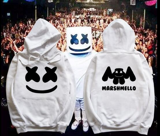 marshmello hoodie  face Hoodies men Casual Hoodies Sweatshirt Sportswear Male  Hooded marshmello coat Jacket