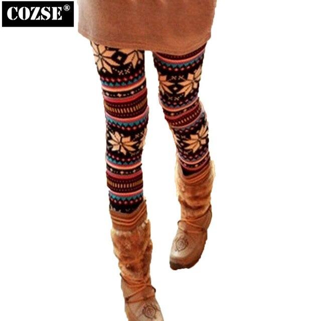 2015 Autumn And Winter Korean Joker Snowflakes Fawn With Thick Women Leggings Women Free Shipping H8706