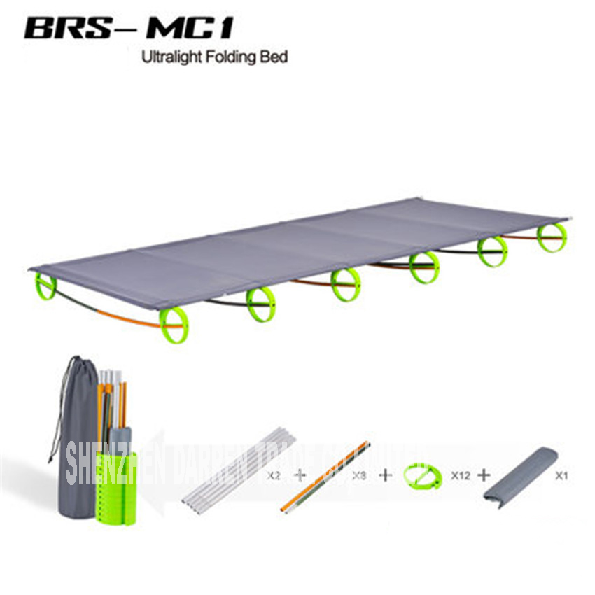 New BRS-MC1 Rugged Comfortable Ultra-Light Portable Aluminum Alloy Camping Outdoor Folding Tent Bed Break Lunch Camping Bed electric lunch box double layer stainless steel liner cooking lunch boxes multifunction plug in lunch box steamed rice steamer