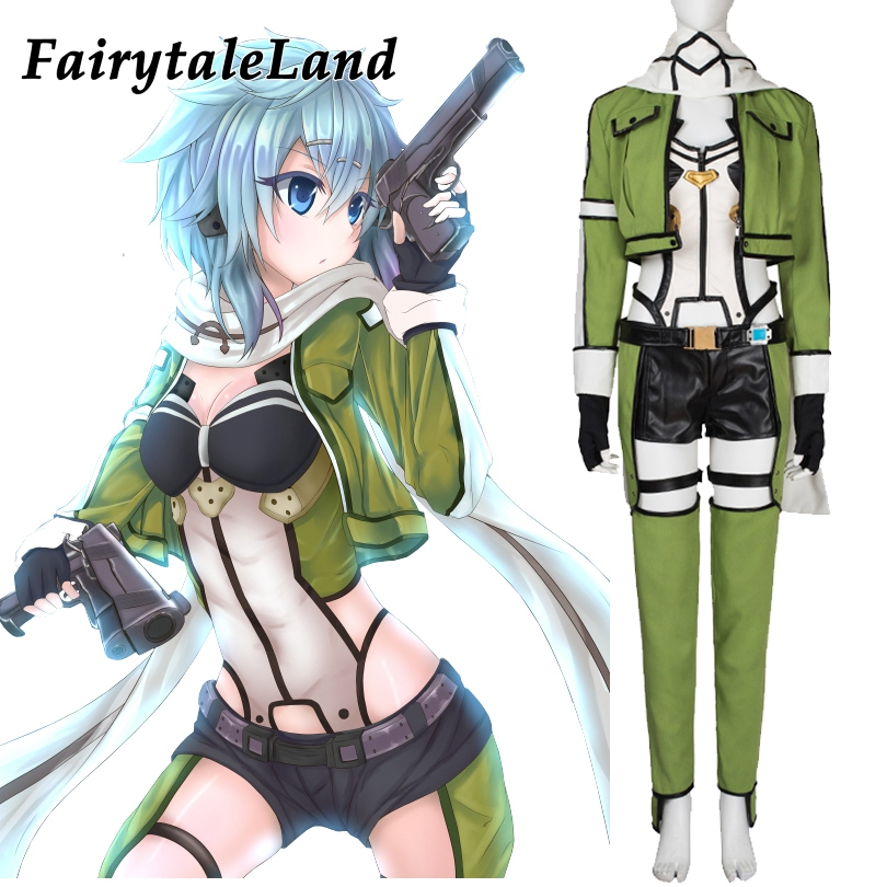 Sword Art Online Asada Shino Cosplay Costume Adult Women Halloween Costumes Hot game Sword Art Online Costume suit custom made tracer lena oxton costume cosplay yellow suit game uniform female yellow version halloween christmas adult women custom made