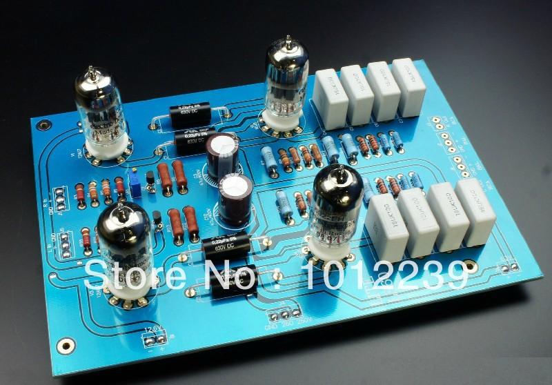 Assembled LS60 fully balanced tube preamp finished plate 12AU7 *2 ,6922 * 2