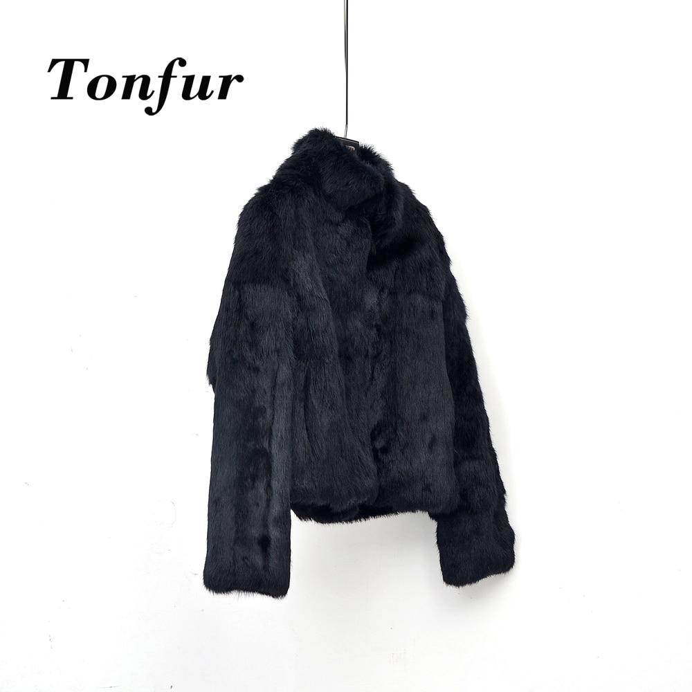 Personnaliser Fourrure gris Poches La Veste Lapin Coût Naturel Usine Tbsr259 Plus Et Blanc Main Taille noir Mandarin À Standard Col 7fg6byY