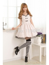 White Short Sleeves Lace Bow Sweet Lolita Dress