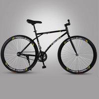 도로 자전거 고정 기어 자전거 라이트 성인 트랙 단일 속도 자전거 역방향 브레이크 파인 타이어 자전거 성인 학생